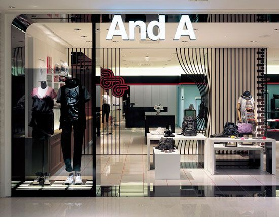 'And A', clothing store japan / moment design: