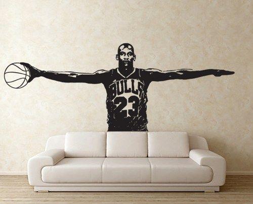 huge discount 32f06 7d0fc ... Michael Jordan Wings Vinyl Wall Art Decal (WD-0652) ...