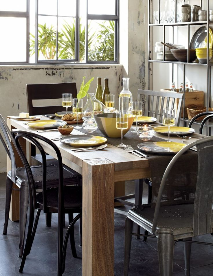Like Its Namesake, This Casual, Contemporary Dining Group Is Big, Bold And  Natural. Dining Table DesignDining ...