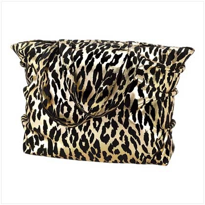 gold leopard print tote