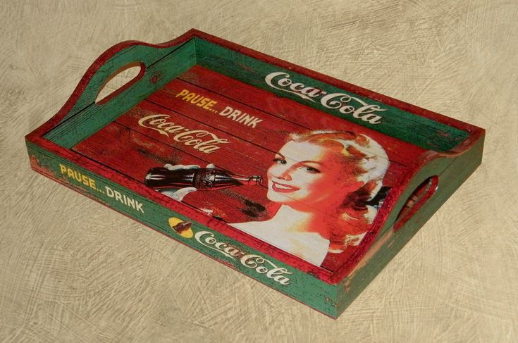 Bandeja Vintage Coca Blonde | PoisZé Artesanato | Elo7