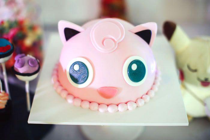 Cake from a Pokemon Beach Birthday Party on Kara's Party Ideas | KarasPartyIdeas.com (11)