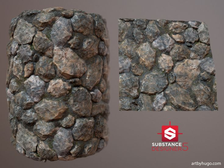 Cemented Stone Wall - Procedural Material, Hugo Beyer on ArtStation at https://www.artstation.com/artwork/yQJPx