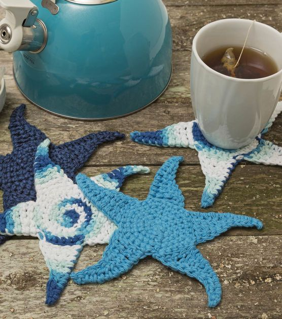 Starfish Coasters Free pattern~k8~