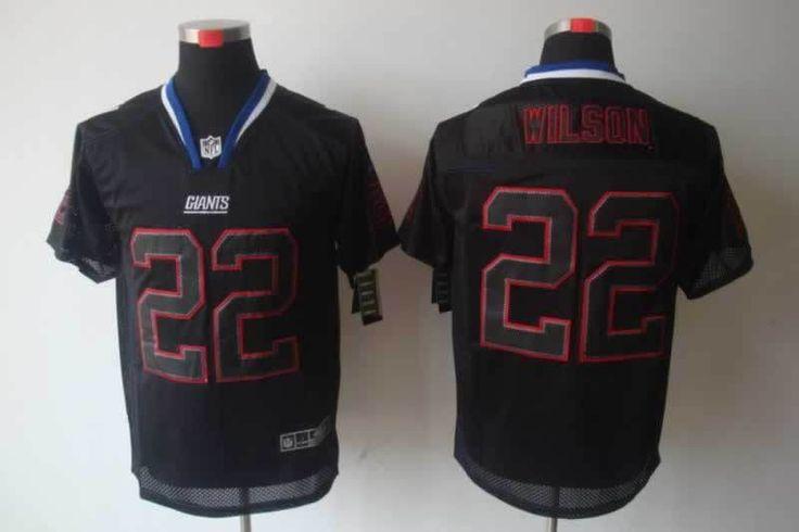 nike new york giants david wilson lights out black elite jersey