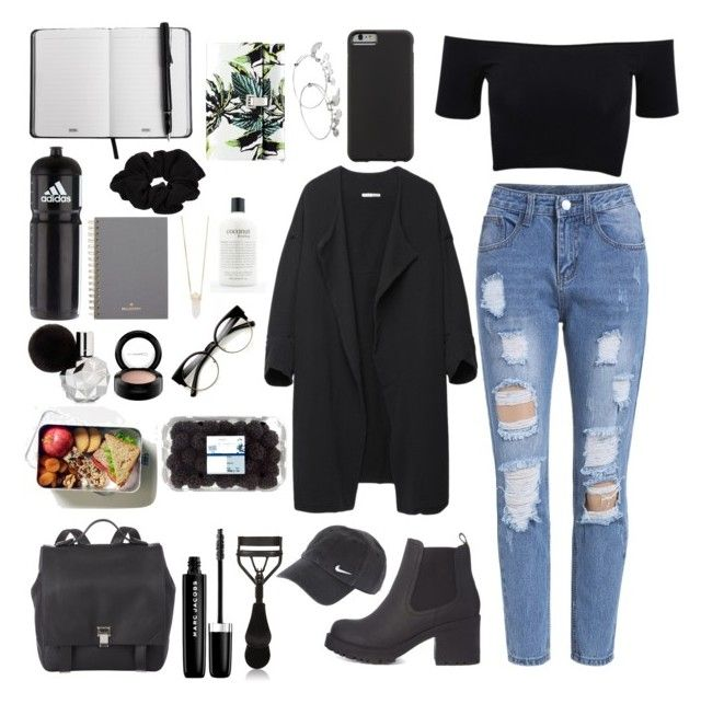"""""""School day"""" by mollzhav on Polyvore featuring American Apparel, Case-Mate, BLACK CRANE, Proenza Schouler, Alex and Ani, adidas, River Island, Mulberry, Marc Jacobs and Eyeko"""