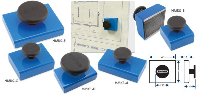 Blue Magnets with Knobs