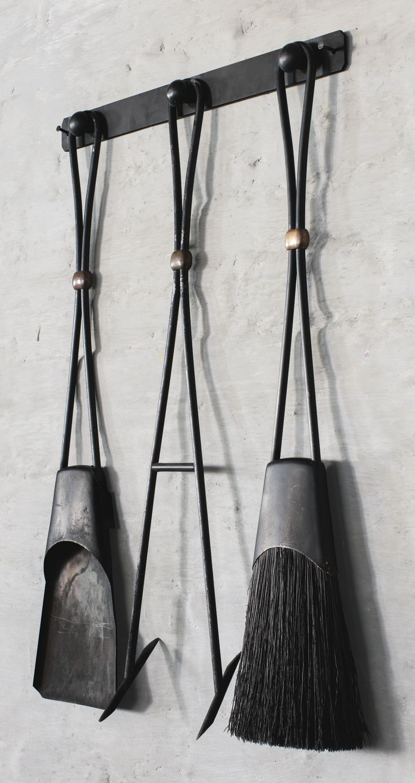 Jens Quistgaard; Fireplace Tools for Dansk, c1960.