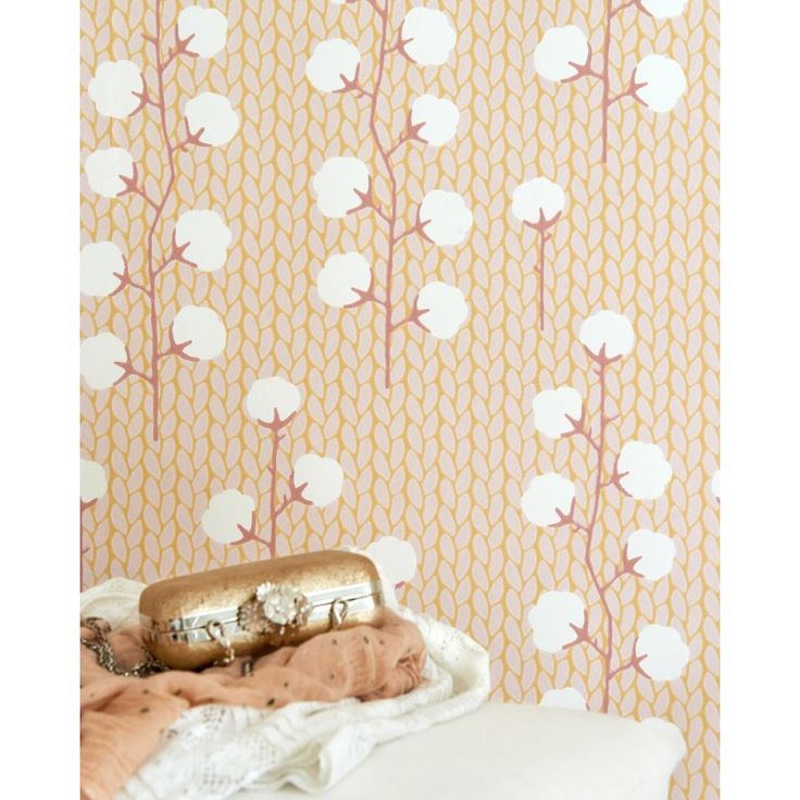 Sweet Cotton Wallpaper by Majvillan | Available from www.wallpaperantics.com.au