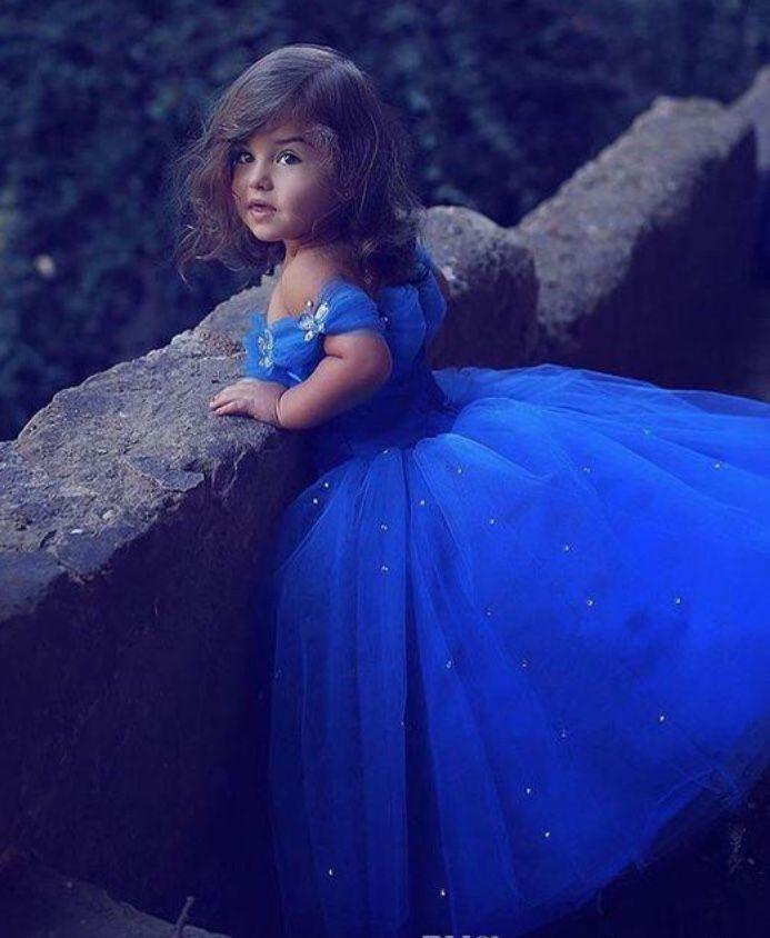 e4b144ad3fa4 Shad Mhamad Royal blue princess dress   Little girls pageant dress ...