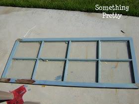 Something Pretty: Window Pane Headboard Tutorial