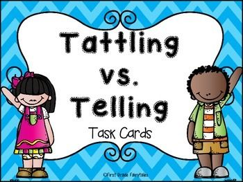 Freebie:  Telling vs. Tattling Sorting Cards for K-1-2