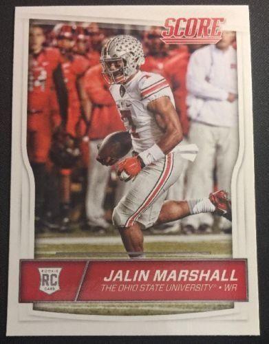 2016 Score Football Scorecard #439 Jalin Marshall Ohio State Buckeyes