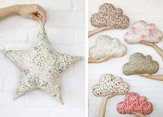 star and cloud pillows