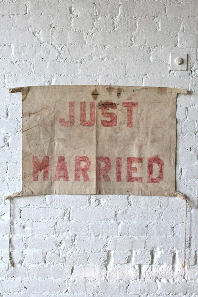 1940's era 'Just Married' Banner from the Forest Bound vintage shop! $150