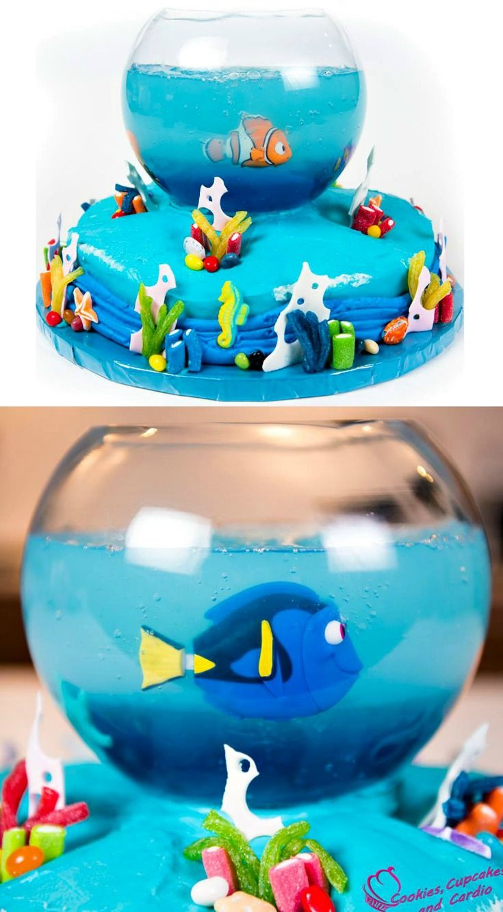 Best  Aquarium Cake Ideas On Pinterest Finding Nemo Cake - Nemo fish birthday cake