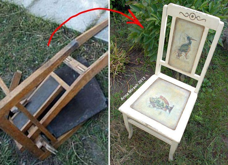 Anna Mirash decoupage 2013 - restored old chair