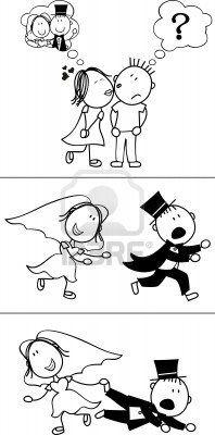 8930761-conjunto-de-dibujos-animados-par-aislado-desbocado-novios-ideal-para-la-invitacion-de-boda-divertida.jpg (198×400)