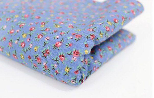 Ткани без категории - Розовая ткань в мелкие веточки (копия)