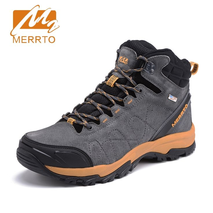 63.99$  Watch here - http://alih7w.shopchina.info/go.php?t=32803537274 - 2017 Merrto Mens Outdoor Sports Shoes Breathable Hiking Boots Waterproof Walking Shoes For Male Gray Blue Free Shipping MT18636  #buyininternet