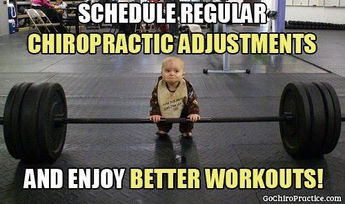 Pump some more iron, with regular chiropractic adjustments!