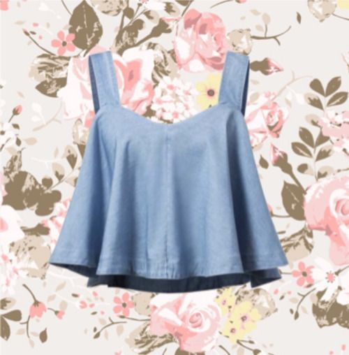 okaywowcool:  ruffled denim crop top  follow me on okaywowcool for more fresh content!