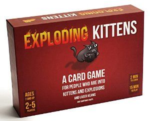 July 2016 - What I'm Playing - Board Games - Exploding Kittens - This is a card game where you have so many cards in your hand to play but you have to be careful, if you get the exploding kitten, you're out of the game for good. I've played it several time with family members, some members really love the game... me, not so much. Personally, the game sounds more fun than it really is. (not an affiliate link, endorsement, or sponsorship) #Boardgames #FamilyNight #Games