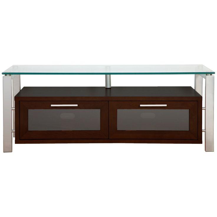 Plateau Decor 50 Inch TV Stand in Espresso with Silver Frame - DECOR 50 (E)-S