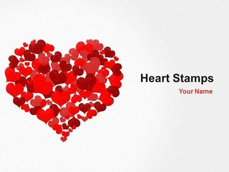 Heart Stamps PowerPoint Template - One of a number of nice templates from Presentation Magazine.