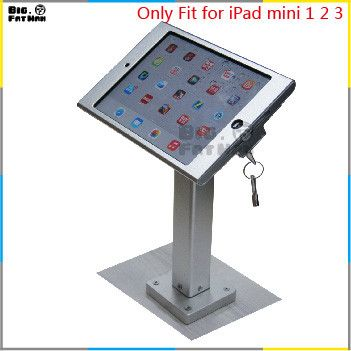 Fit for iPad mini1/ 2 /3 wall mount aluminum metal case bracket Security desktop support for iPad mini holder for tablet