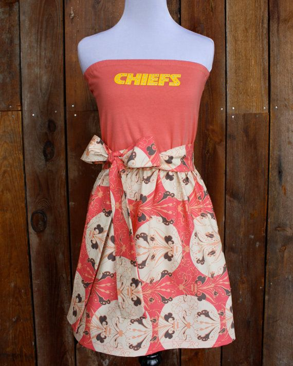 Kansas City Chiefs Game Day Strapless Dress - Size Extra Small / Small