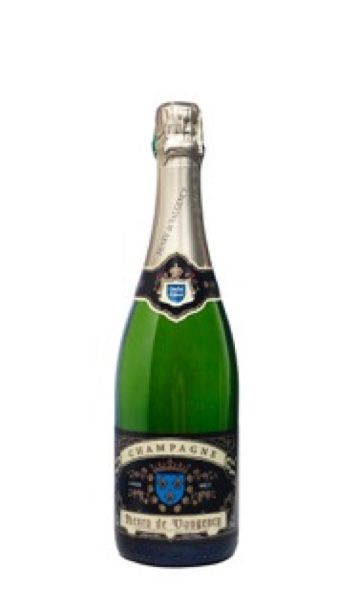 Brut Champagne helder en goudkleurig  een Blanc de Blancs ideaal als aperitief