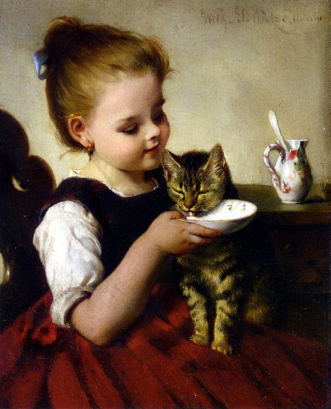 Картинки девочка с котенком ссср