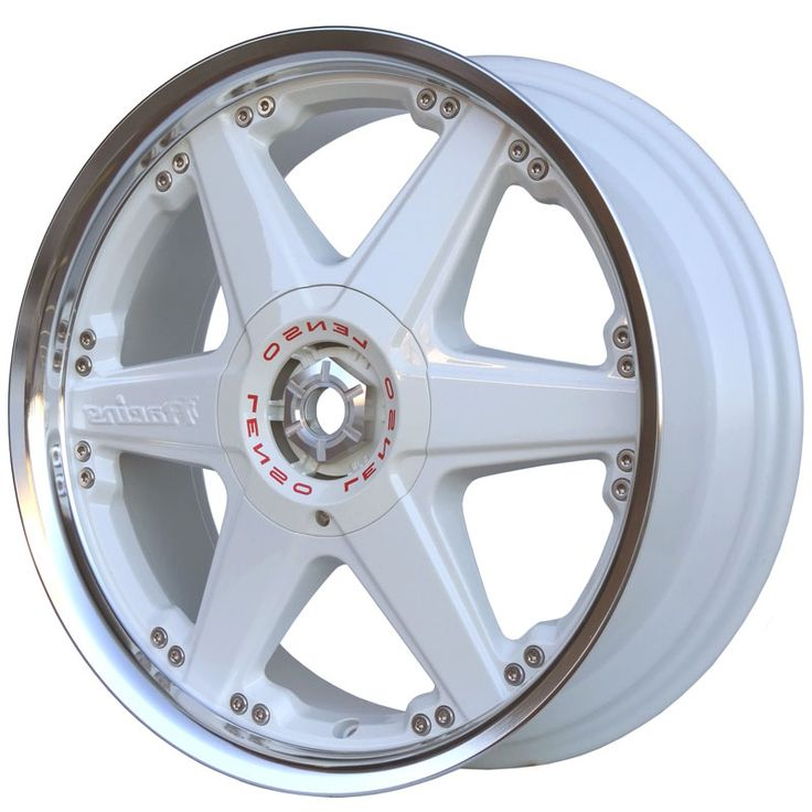 LENSO REIZEN WHITE  MIRROR LIP alloy wheels with stunning look for 4 studd wheels in WHITE  MIRROR LIP finish with 17 inch rim size