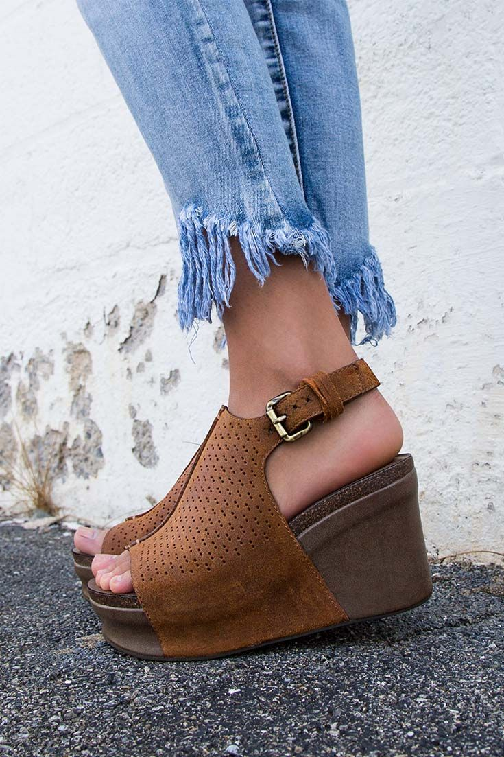 61050fa3fa9a Style any pair of jeans with the Jaunt wedge sandals for chic back to  school look.  otbt  shoes  fashion