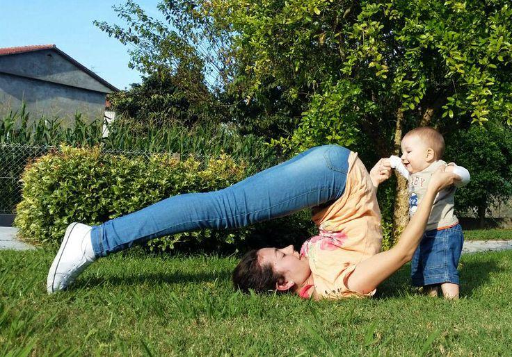 Yoga con mi bebé. #arado #yogamamáybebé #yoga #babyyoga #yogainnature