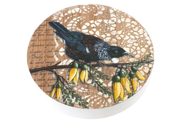 Tui on Kowhai by Justine Hawksworth Original Available at www.quirkyfox.co.nz
