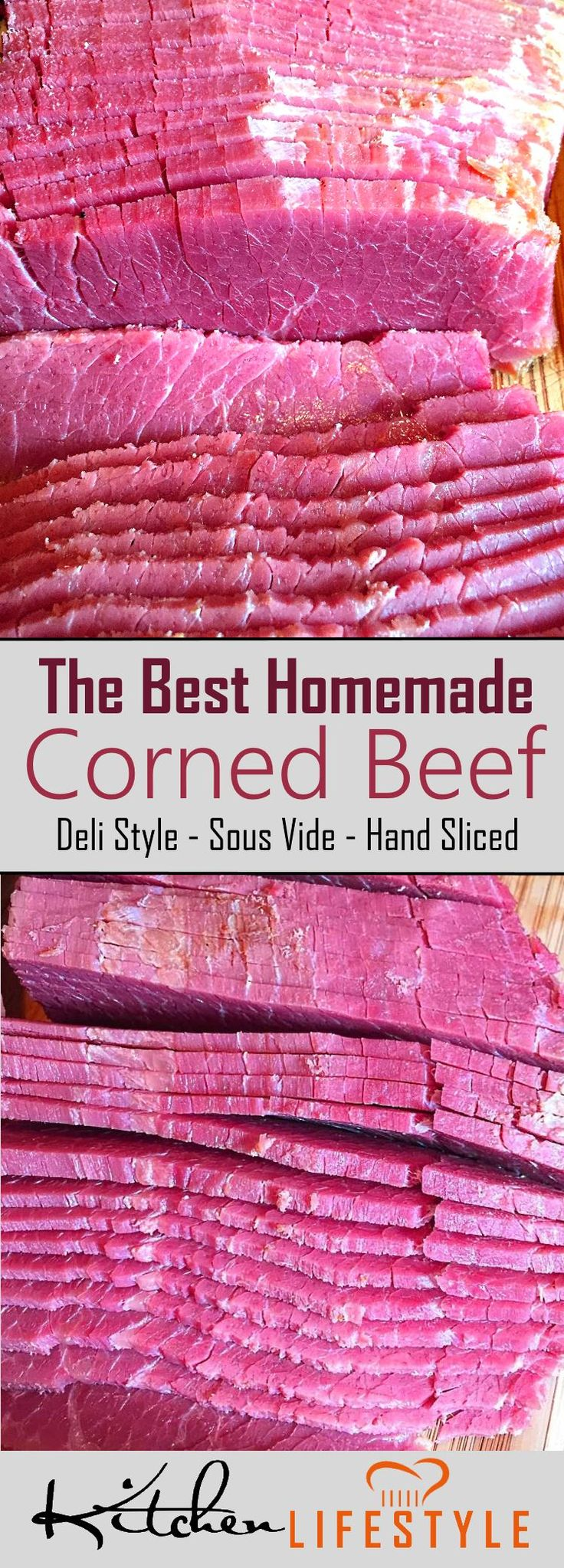 The Best Sous Vide Corned Beef Recipe - Are you a Corned Beef fan? If you are, then this corned beef recipe is for you! It's been tested to perfection. via @kitchnlifestyle