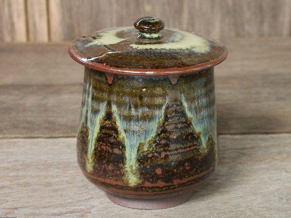 Brown Tea Cup With Lid Ceramic Tumbler Ceramic Mug by Singhato