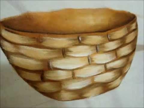 Pintura em tecido Eliane Nascimento: cestas