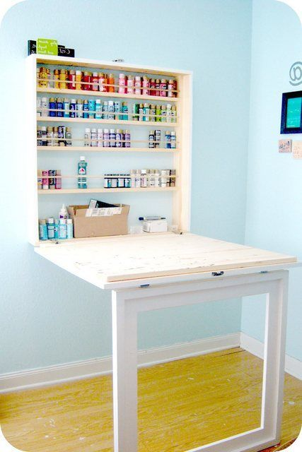 The 25 best drop down desk ideas on pinterest fold away for Fold up nail table