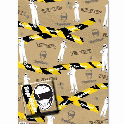Top Gear Gift Wrapping Sheets and 2 Gift Tags available from Publishers with Free UK Delivery at https://www.danilo.com/Shop/Cards-and-Wrap/Gift-Wrap-and-Tags