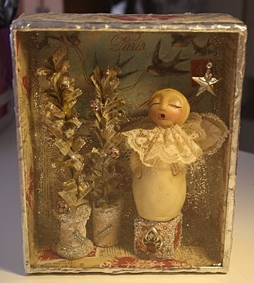 Soldered cigar box: Christmas Delight, Soldering Cigars, Christmas Crafts, Cigars Boxes, Cigar Boxes, Boxes Fillings, Shadows Boxes, Foil Angel, Boxes Lids