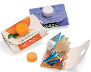 This is a great project for kids! Wallets or card holders from 1/2 Gal recycled cartons! School project
