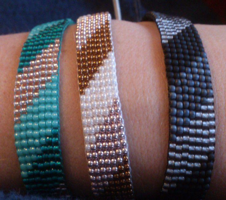 Loom beaded bracelet/Beaded bracelet with waxed cord by Suusjabeads on Etsy https://www.etsy.com/listing/216051651/loom-beaded-braceletbeaded-bracelet-with