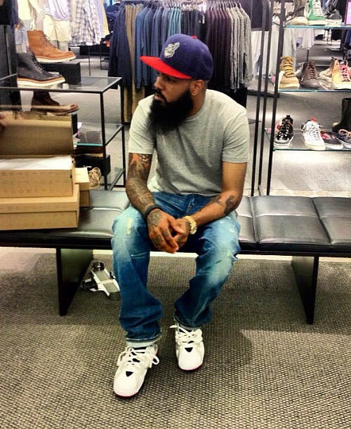 best loved bfb30 6581a Discover ideas about Hip Hop Fashion. Stalley in the Air Jordan 7 Olympic