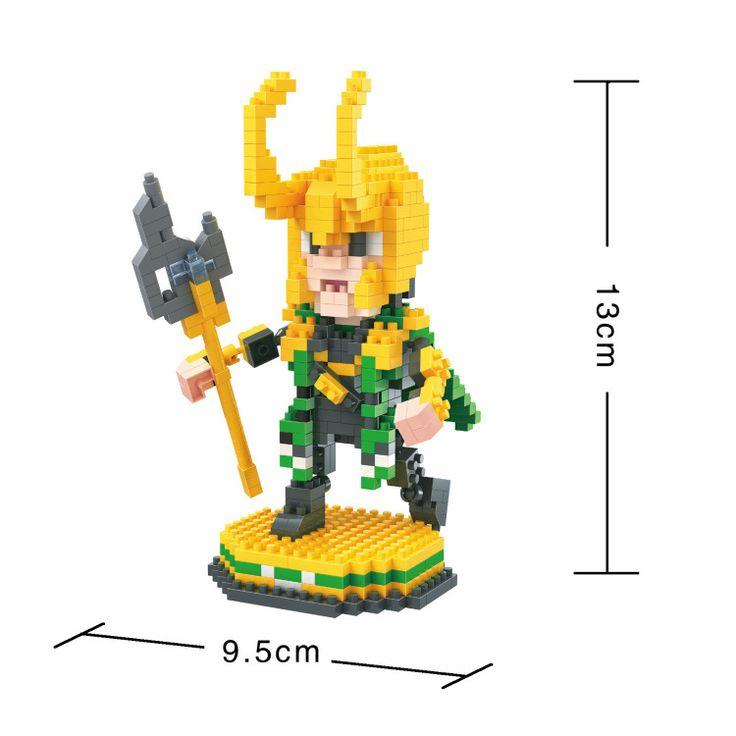 BOB DIY Blocks Marvel Super hero Loki 9526