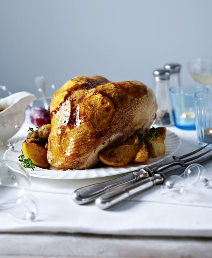 Mary Berry shows you how to cook a turkey crown - deliciously flavoured with orange and thyme - in 10 easy steps