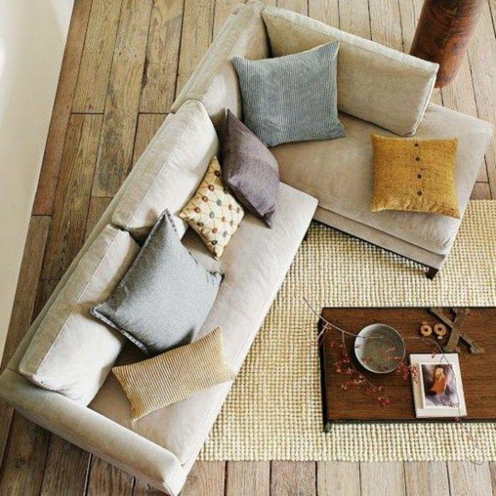 coussin canape, acheter un coussin 60x60 pour le canapé d'angle beige