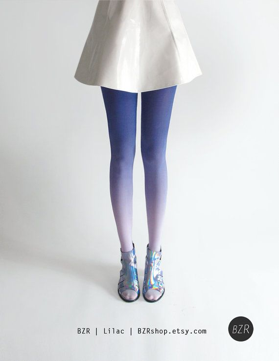 Ombré tights in Coal by BZRshop on Etsy